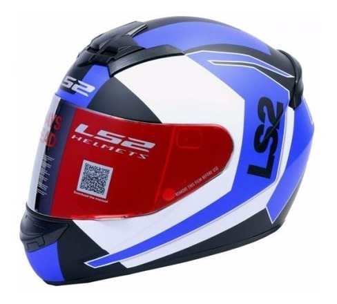 casco integral ls2 ff352 sprint black-blue-white motosmiguel
