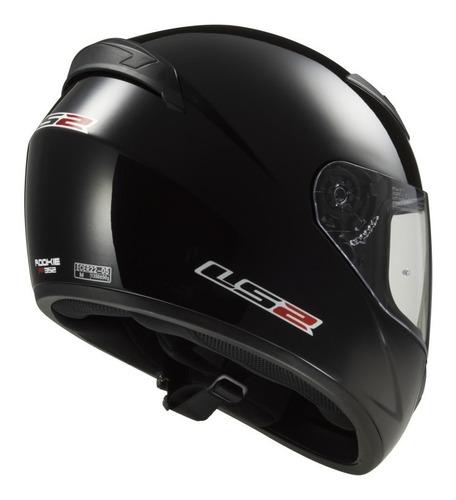 casco integral ls2 negro liso | oferta!  moto protección