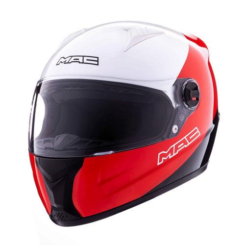 casco integral mac street sash blanco rojo negro devotobikes