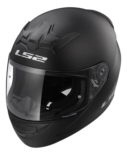 casco integral moto ls2 352 rookie solid negro mate