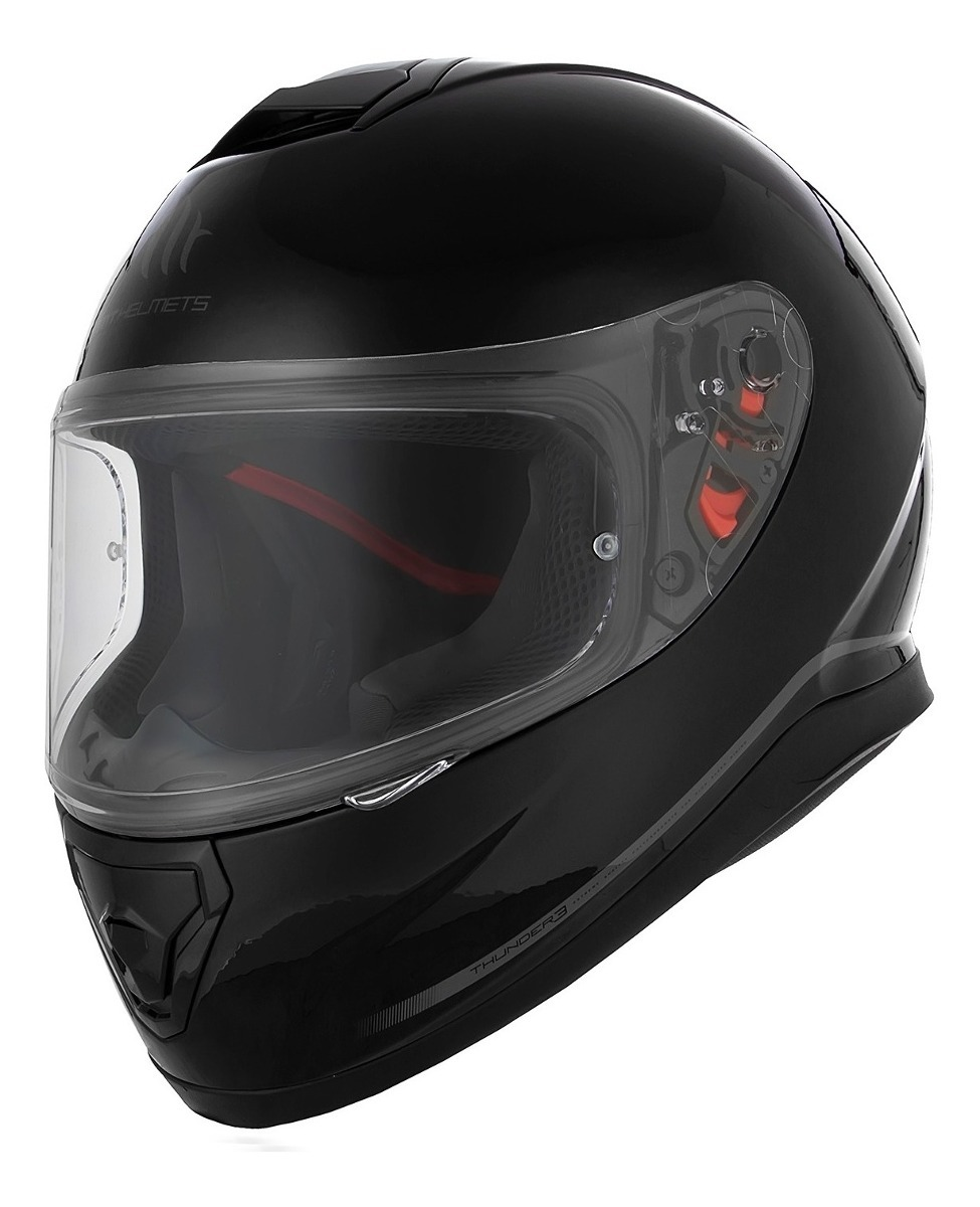 88cfcd31 casco integral moto mt thunder 3 negro brillo doble visor. Cargando zoom.