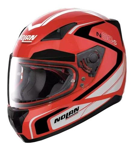 casco integral nolan n60-5 practice 21 corsa red - cuotas