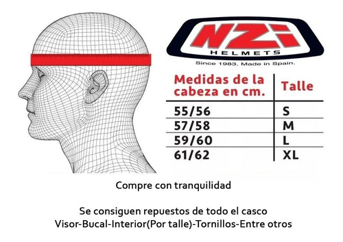 casco integral nzi fusion liso negro gris single mono - full