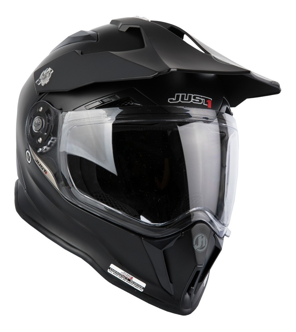 7832e6f5 casco just1 j34 matt black adventure hibrido doble visor. Cargando zoom.