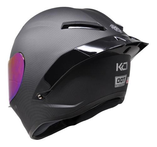 casco kov kc1 integral negro carbon tipo agv