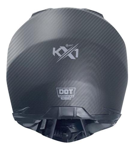 casco kov kx1 city cross fibra carbono certificado dot
