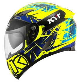 Casco Kyt Falcon - Spike - Yellow Fluo/blue