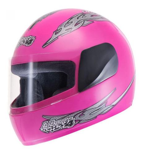 casco liberty four rosa f/girls t 56
