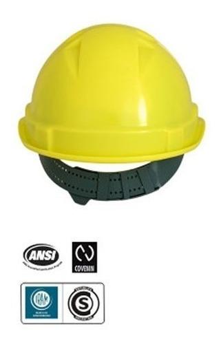 casco libus modelo milenium con arnes simples amarillo