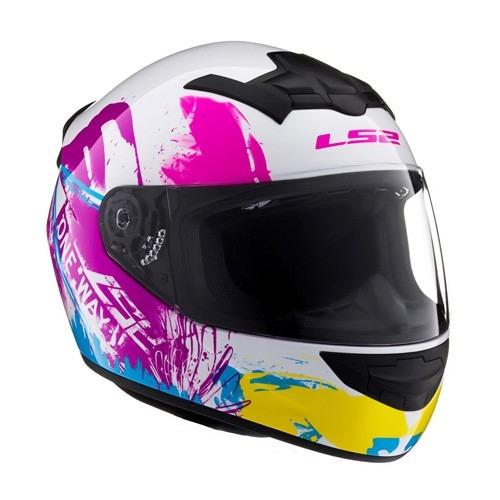 casco ls2 ff352 one white iris dama mujer moto delta tigre