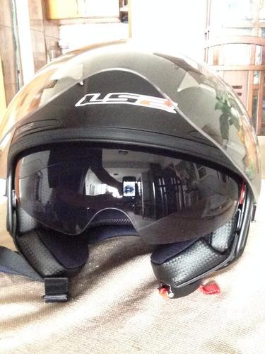 casco ls2 modelo 547 stroke talla xl negro mate (new)