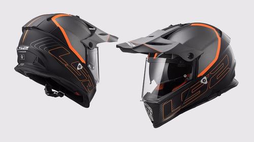 casco ls2 pioneer titanium con gafas internas rider one