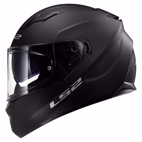 casco ls2 stream ff 320 negro brillante - tamburrino hnos