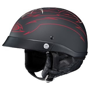 casco medio hjc cl-ironroad show boat negro/rojo/blanco sm