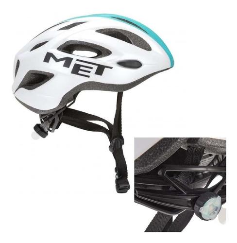 casco met idolo - in-mold - 257 g - luz led - ruta