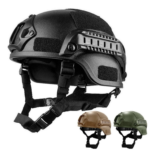 casco militar táctico gotcha paintball airsoft