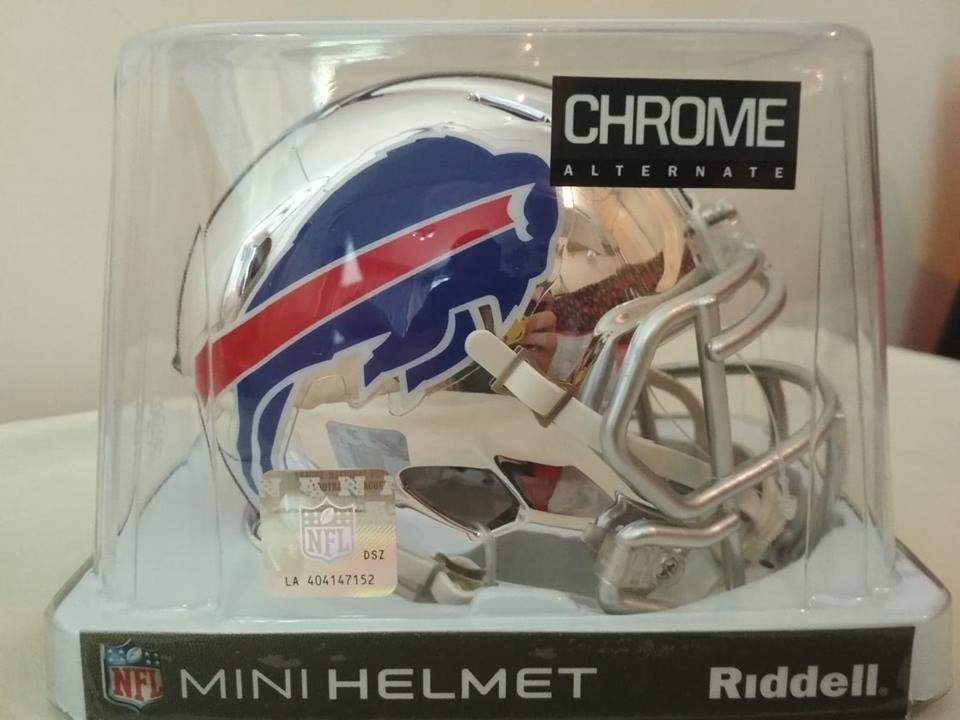038c9d42ab4a7 casco mini speed chrome nfl buffalo bills. Cargando zoom.