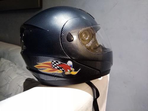 casco modular, marca: promax, talla m + sticker honda racing