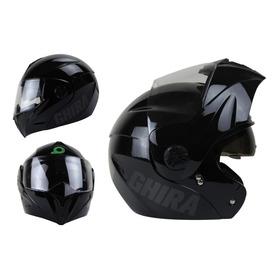 Casco Moto Abatible Ghira Gh1000 Con Gafas Certificado Dot