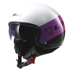 Casco Moto Abierto Ls2 561 Wave Beat Rosa Fluo