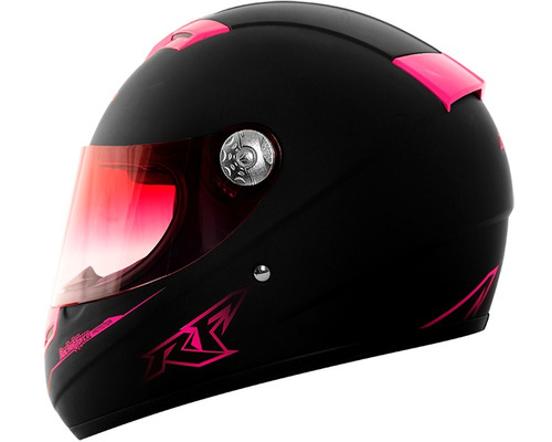 casco moto dama rocket force s09 vector fucsia