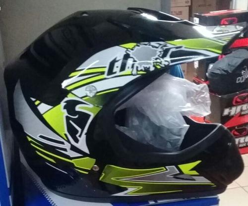 casco moto diseño fox, alpinestar, rr obsequiamos: gafas
