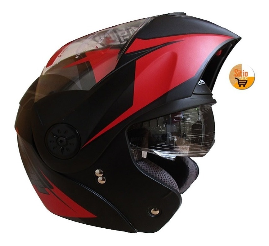 87315c1a casco moto doble visor abatible ich 3110 dot + gratis placas. Cargando zoom.