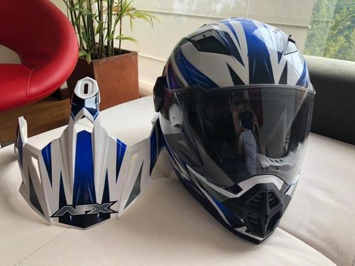 casco moto dual afx   fx-39ds  strike