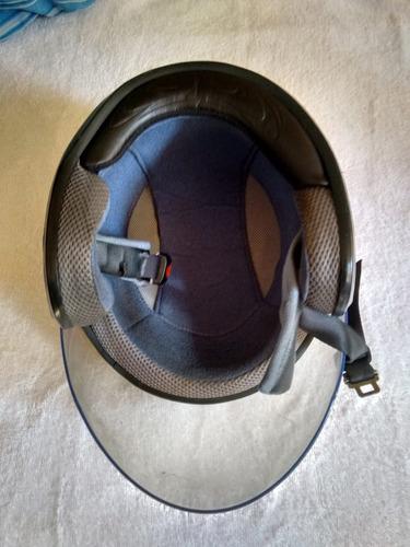 casco moto evolution negro semi-integral talla m