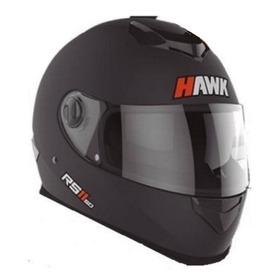 Casco Moto Hawk Rs11 Negro Mate Integral Doble Visor Talle L