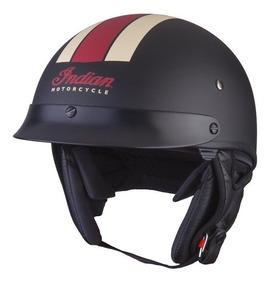 recoger Descubrir elige auténtico Casco Moto Indian Original Half Helmet 1 Clasico Vintage Dot