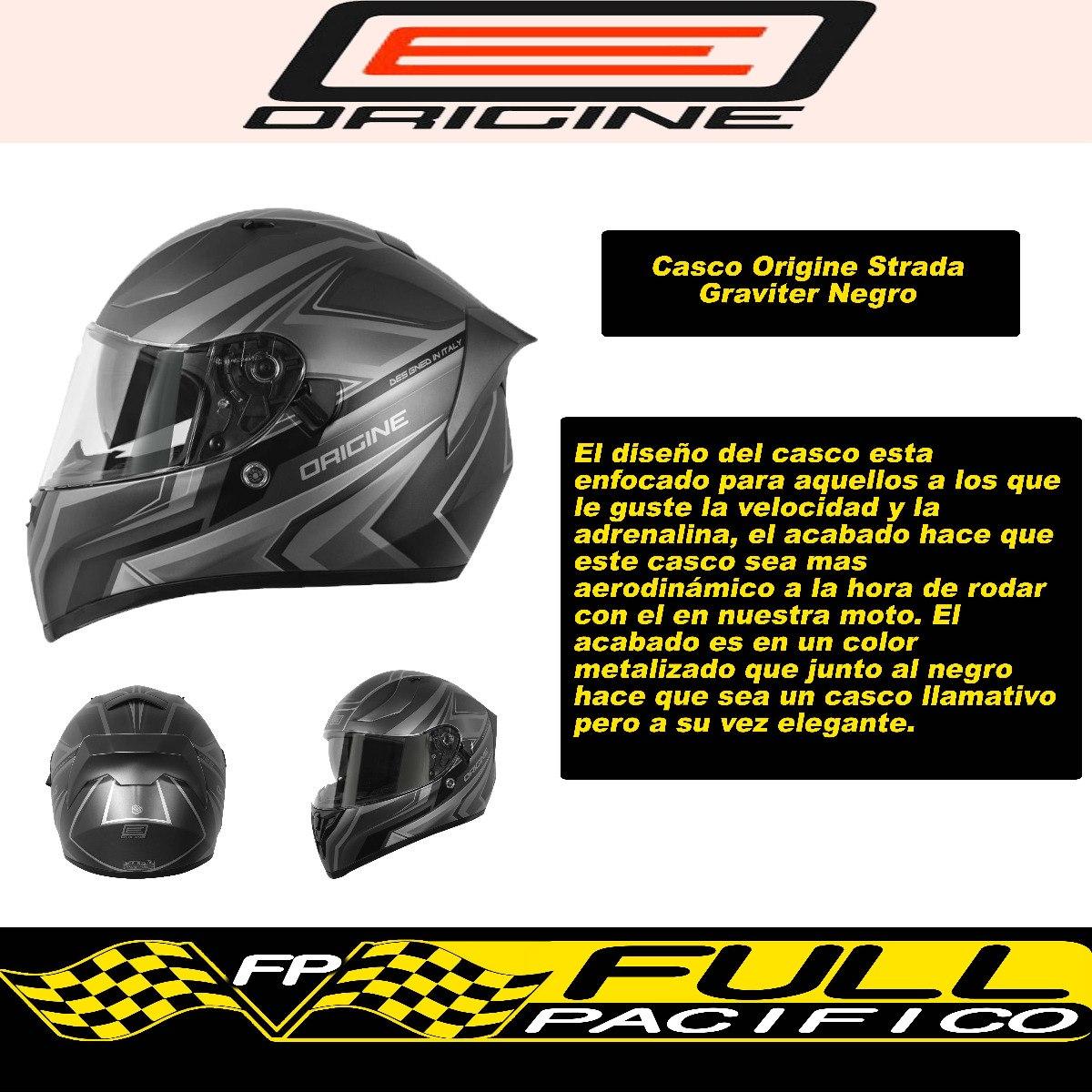 42b2f134cbf Casco Moto Integral Origine Strada Titanium/negro Talla L - $ 71.900 en  Mercado Libre