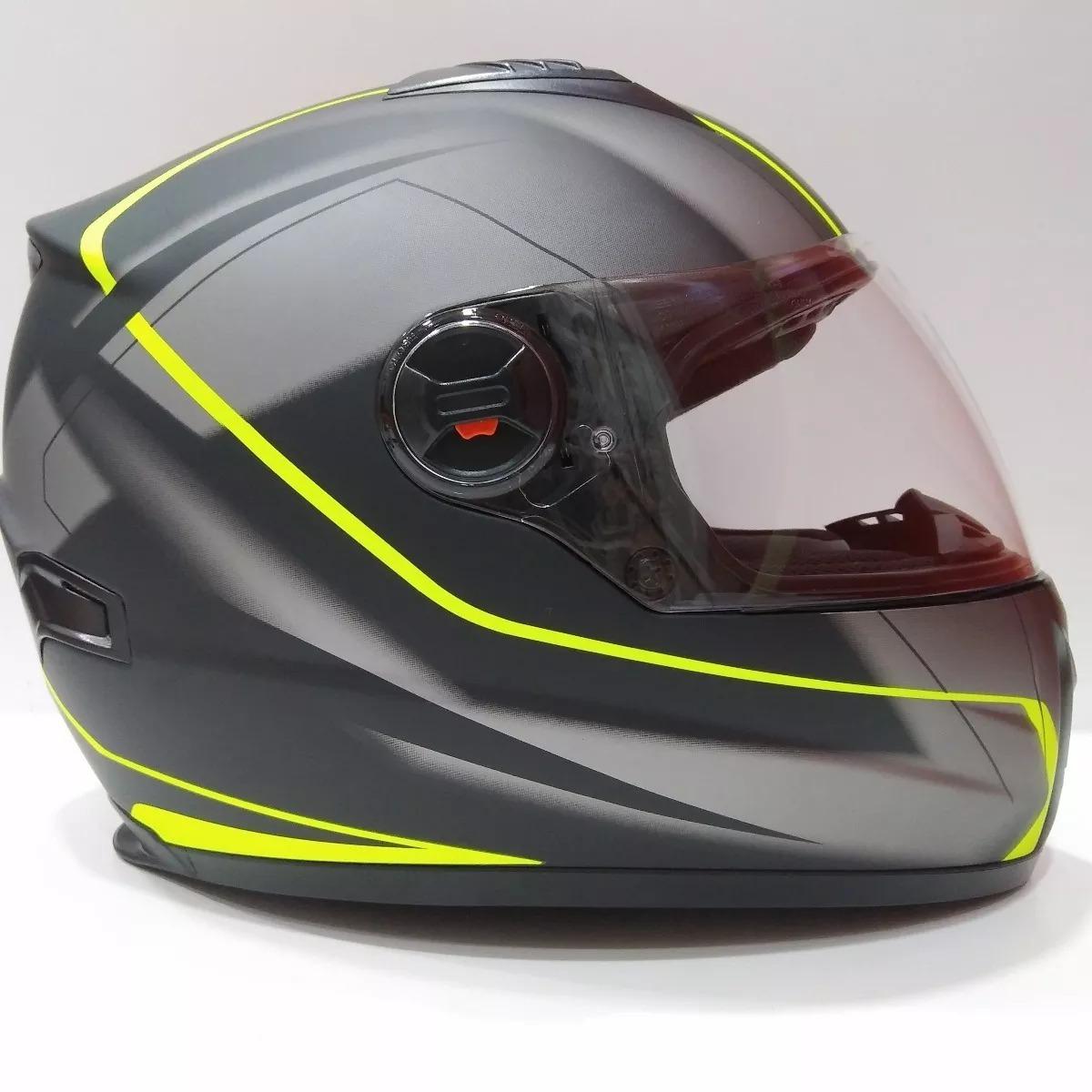 2cefb15f6cbb3 Casco Moto Integral Arex 807 Ms Gris Negro Amari Fluo Mate ...