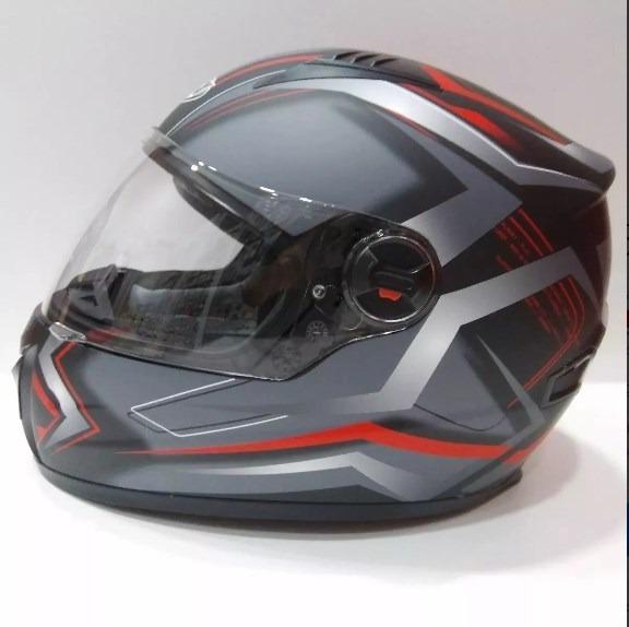 c2d2c543d07ad Casco Moto Integral Arex Mr807 Negro Mate Rojo gris -   55.000 en ...