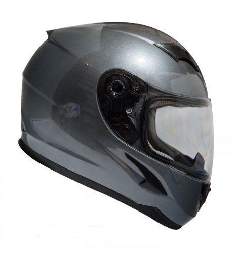 casco moto integral certificado mtr gris s m xl
