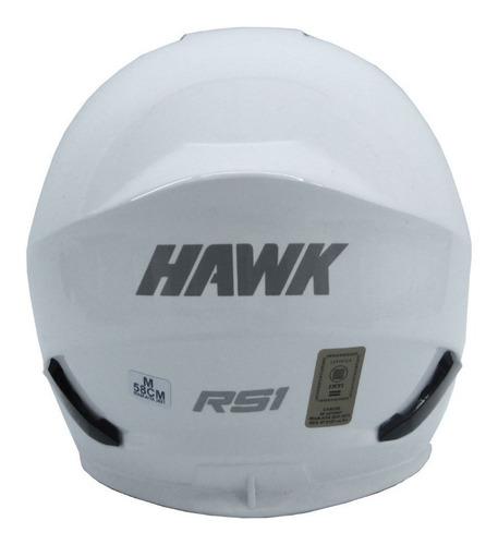 casco moto integral hawk rs1 2019 - blanco