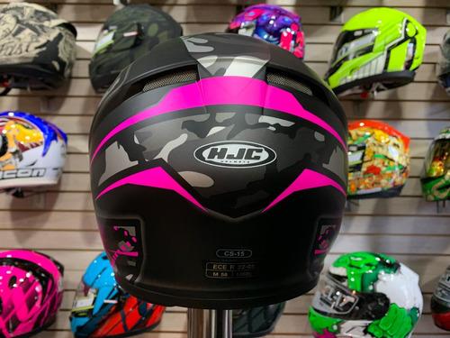 casco moto integral hjc certificado europeo *12 diseños - as