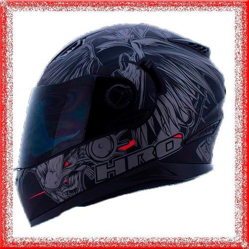 casco moto integral hro doble visor certificado outlet 2.016