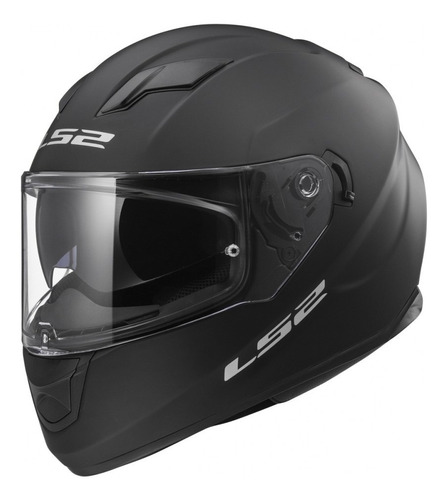casco moto integral ls2 320 negro mate doble visor yuhmak