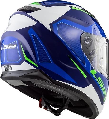casco moto integral ls2 320 stream evo axis azul devotobikes
