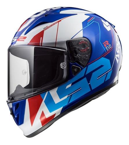 casco moto integral ls2 323 arrow r evo techno blue yuhmak
