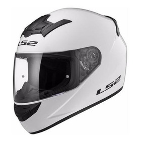 Casco Moto Integral Ls2 352 Rookie Solid Blanco
