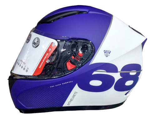 casco moto integral mt revenge copo certificado - as