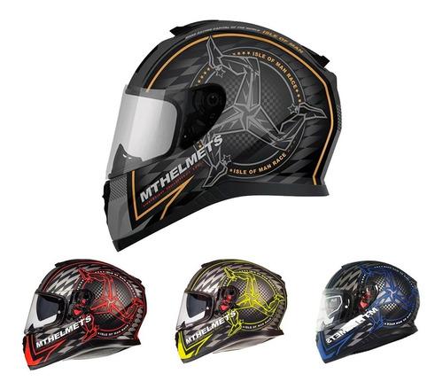 casco moto integral mt thunder 3 doble visor certficado - as