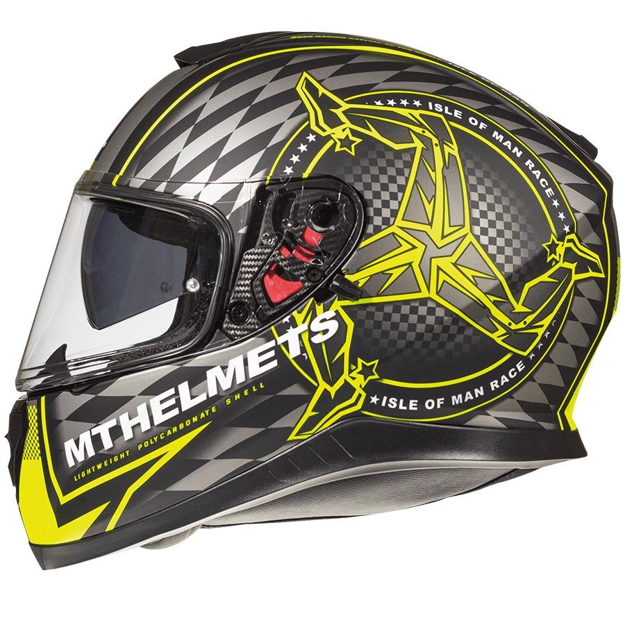 618a46be casco moto integral mt thunder isle of man amarillo fluo mat. Cargando zoom.