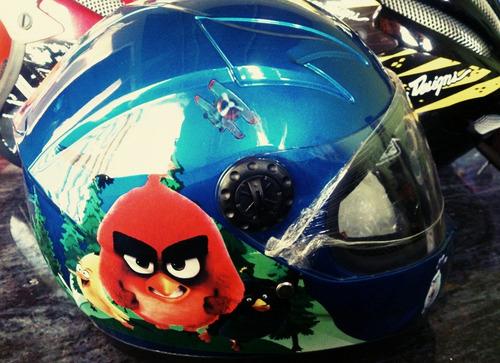 casco moto integral niña - niño.
