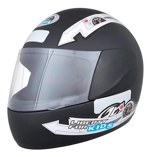 casco moto integral protork liberty four kids negro t54