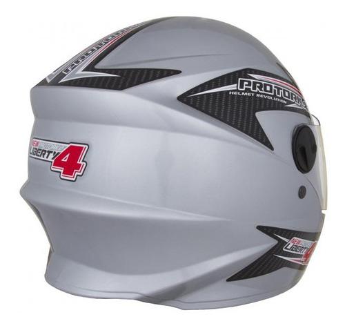casco moto integral protork new liberty four gris t 58