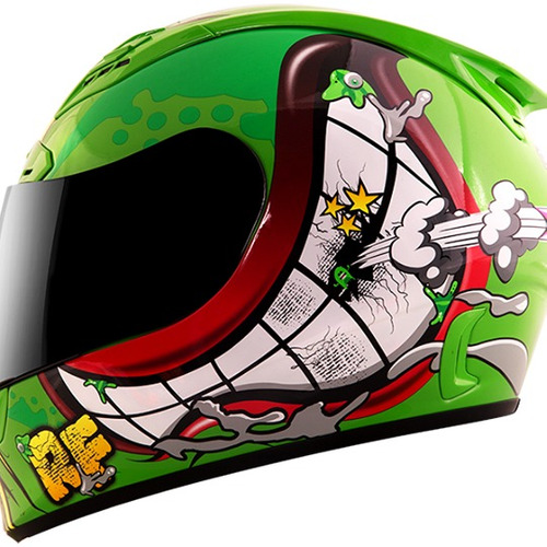 casco moto integral rocket force s-07 garbage talla: xl