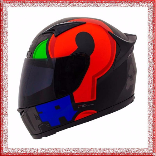 casco moto integral shaft super diseños + bono promocional